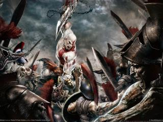 обои God of war chains of olympus фото