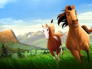 обои Лошади из фильма Spirit фото